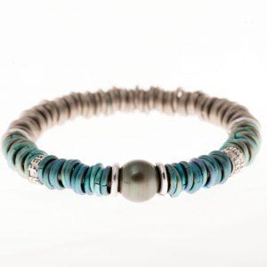 Bracelet Titanium Perles Tahiti