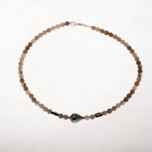 Labradorite et nacre Perle Tahiti